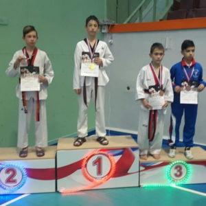 Выков Умар занял 1 место на соревнованиях по тхэквондо